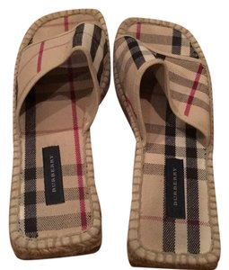 Burberry Tan with Burberry stripes Sandals