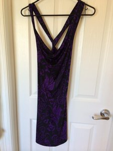 Rubinacci Napoli short dress Black and Purple on Tradesy