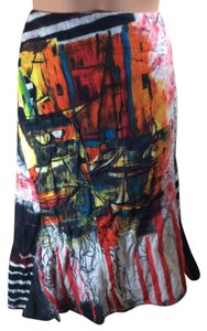 Save The Queen Colorful Skirt Black / Red Multi