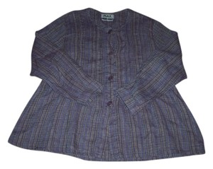 FLAX Linen Top purple Jacket