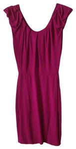 Bordeaux Los Angeles short dress Fuchsia Jersey on Tradesy