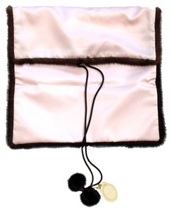 Gutzees GUTZEES LARGE PINK & BROWN MINK LINGERIE BAG
