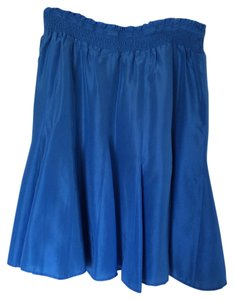 Banana Republic Skirt Blue Silk