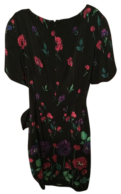 Preload https://item5.tradesy.com/images/liz-claiborne-black-with-multicolor-flowers-silk-knee-length-workoffice-dress-size-8-m-10275979-0-1.jpg?width=400&height=650