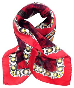 Gianfranco Ferre GIANFRANCO FERRE SILK VINTAGE LAVA RED SCARF