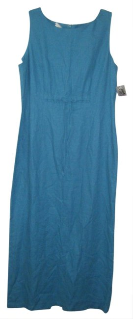Preload https://item3.tradesy.com/images/style-and-co-blue-linen-blend-column-drawstring-at-waist-career-long-workoffice-dress-size-10-m-1027642-0-0.jpg?width=400&height=650