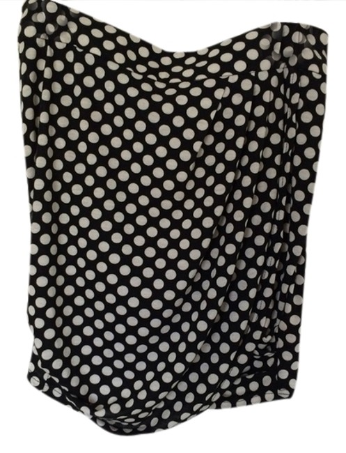 Silence + Noise Mini Skirt Black and White