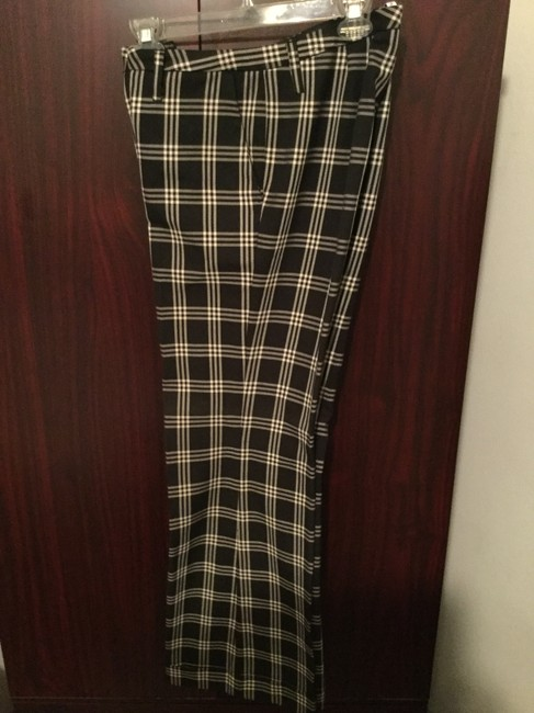 Tommy Hilfiger Women's Slacks Striped Slacks Trousers Checkered Slacks Wide Leg Pants Black and white