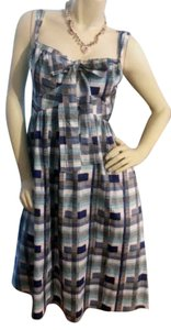 Liz Claiborne short dress blue, black & white plaid on Tradesy