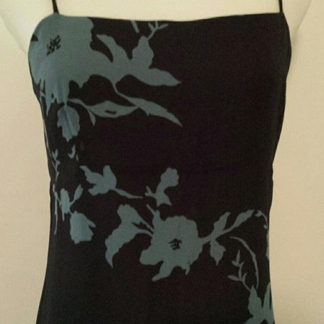 Navy Blue with pale blue floral pattern. Maxi Dress by INC International Concepts