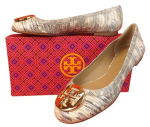 Tory Burch Natural/Gold Flats