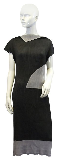 Preload https://item5.tradesy.com/images/issey-miyake-pleats-please-black-and-gray-tank-pp-48-mid-length-short-casual-dress-size-os-one-size-10276849-0-1.jpg?width=400&height=650