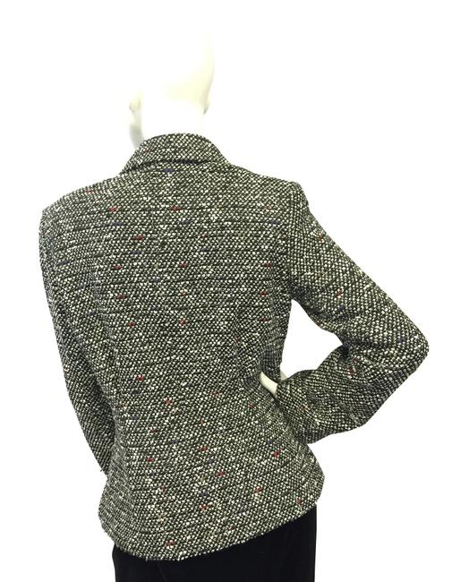 Lafayette 148 New York Black And White Tweed Blazer