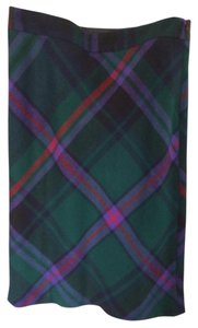 Eddie Bauer Skirt Green Plaid