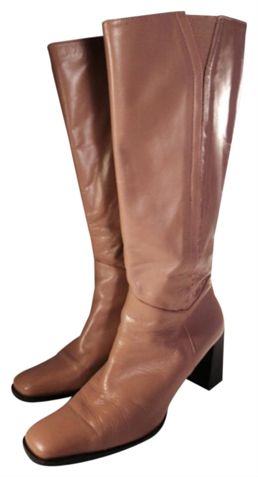 bbc6598cafe Etienne Aigner Camel Knee-high Soft Leather Boots Booties Size US ...