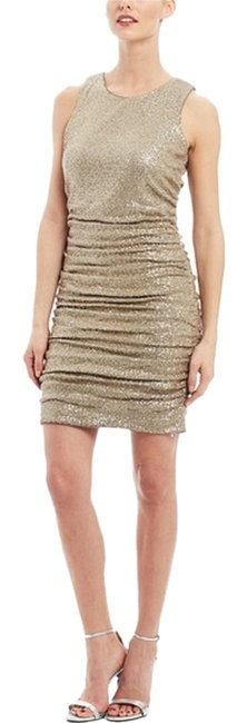 Preload https://img-static.tradesy.com/item/10277455/aidan-mattox-gold-sleeveless-shirred-metallic-knit-above-knee-cocktail-dress-size-4-s-0-1-650-650.jpg