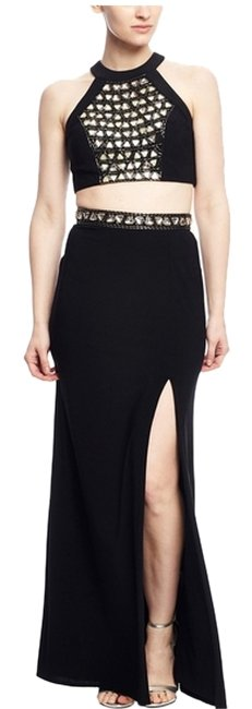Preload https://item2.tradesy.com/images/joanna-chen-black-gold-triangle-crop-top-2-piece-long-cocktail-dress-size-4-s-10277536-0-1.jpg?width=400&height=650