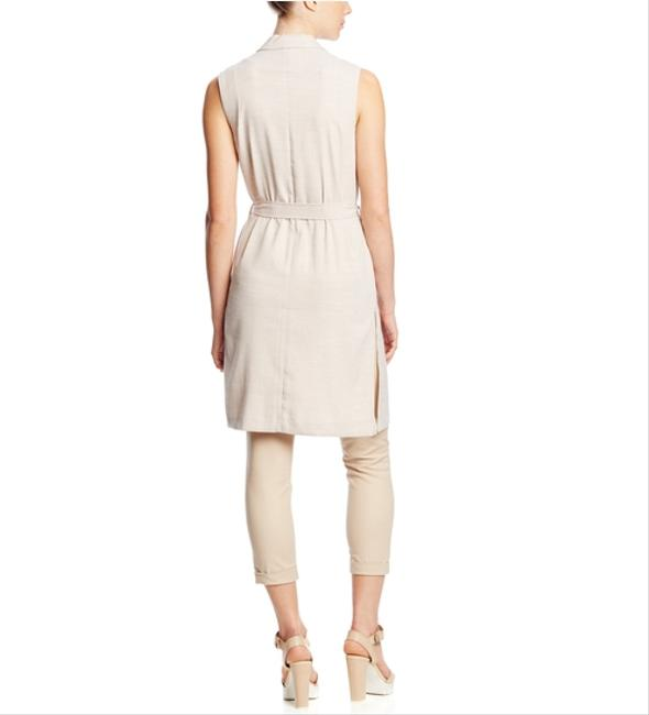 Miss Love Sleeveless Tie Waist Day Work Night Out Evening Holiday Classic Stone / Beige Jacket