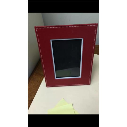 Deluxe Leather Deluxe Leather 4 by 6 Picture Frame (Red, 4 by 6)