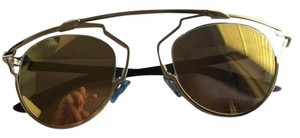 Dior So Real 48mm Gold Mirrored Sunglasses Gold/Crystal/Black