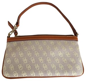 Dooney & Bourke Wristlet in Beige/Brown