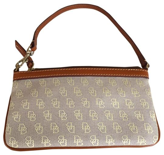 Preload https://item2.tradesy.com/images/dooney-and-bourke-beigebrown-canvass-with-leather-trim-wristlet-10278121-0-2.jpg?width=440&height=440