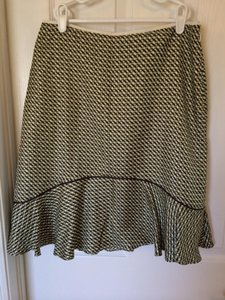Banana Republic Skirt Green and Brown Check
