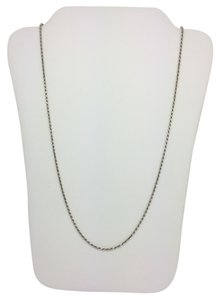 Other 14K White Gold Diamond Cut Rope Chain 22 Inches