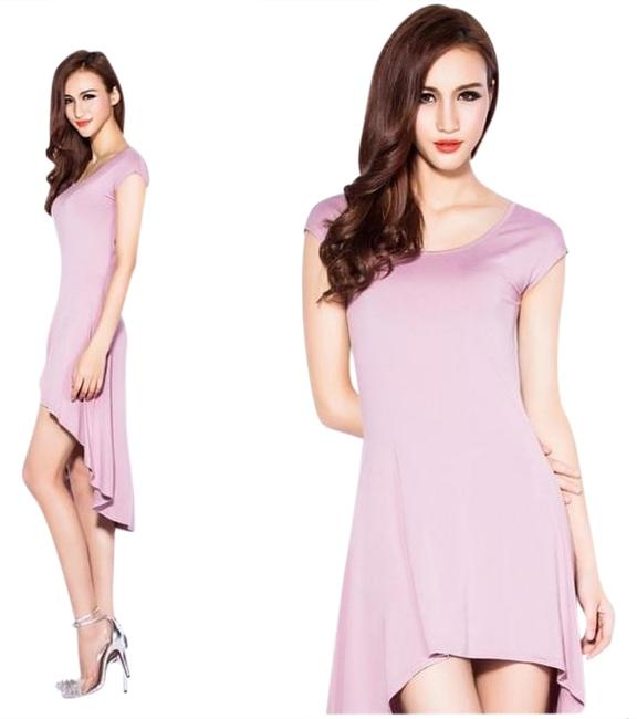 winsen short dress Lavender Cut-out Hi-low on Tradesy