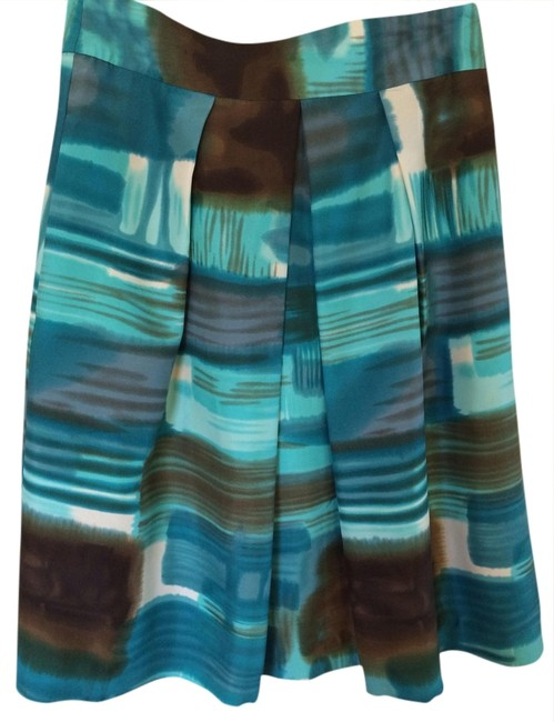 Item - Turquoise and Brown Same Style As Kate Middleton Wore. Skirt Size 2 (XS, 26)