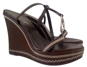 Dior Leather Wedge brown Wedges
