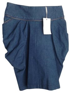 Aryn K Form Fitting Skirt Denim