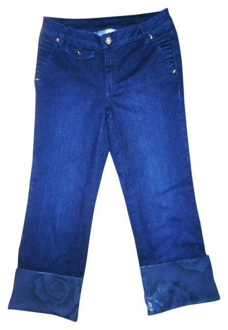 Preload https://img-static.tradesy.com/item/10279192/cache-navy-blue-roses-print-rolled-up-capricropped-jeans-size-28-4-s-0-1-650-650.jpg