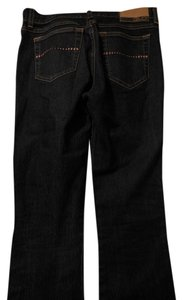 GLO Jeans Girls 5 Pocket Long Flare Leg Jeans-Dark Rinse