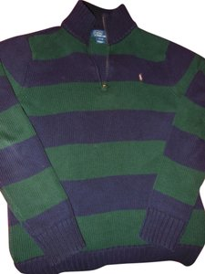Ralph Lauren Polo Multi-color Boys Size 16-18 Boys Striped Boy Cardigan Zipper Sweater