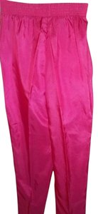 Leslie Fay Polyester After 5 Elastic Waist Straight Pants Fuchsia