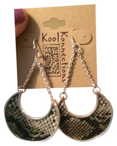 kool konnections Snake Skin earrings