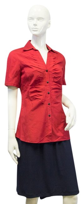 Preload https://img-static.tradesy.com/item/10280077/lafayette-148-new-york-red-blouse-size-4-s-0-1-650-650.jpg