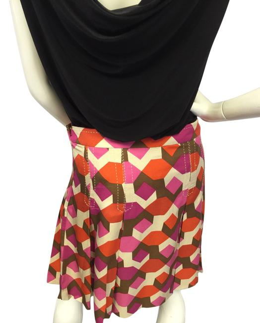 Marc Jacobs Box Pleated Multi Color Mini Skirt