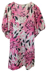 Banana Republic short dress Pink floral on Tradesy