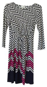 Donna Morgan Chevron Print Dress