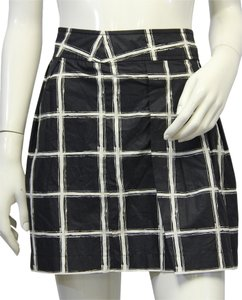 Michael Kors Black And White Mini Skirt