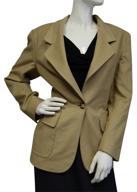Preload https://item2.tradesy.com/images/michael-kors-collection-wool-tan-blazer-size-8-m-10280461-0-1.jpg?width=400&height=650