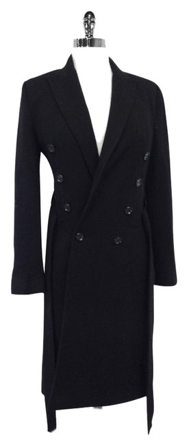 Preload https://item4.tradesy.com/images/dolce-and-gabbana-black-wool-coat-size-8-m-10280923-0-1.jpg?width=400&height=650