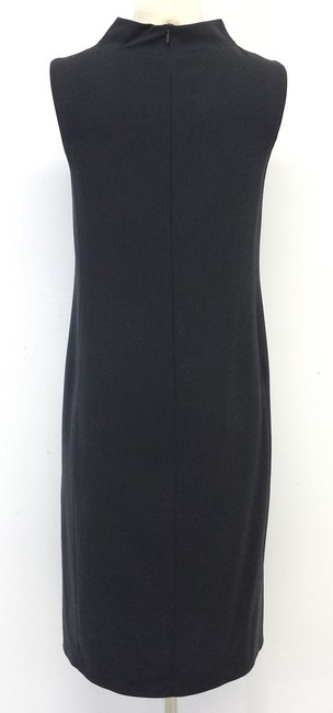 Max Mara Grey Wool Blend Sleeveless Dress