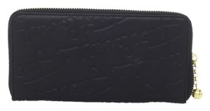 Just Cavalli JUST CAVALLI LOGO ZIP-AROUND WALLET, BLACK