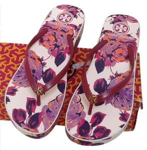 Tory Burch PINK MULTI Wedges