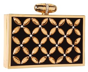 Franchi Black/Gold Clutch
