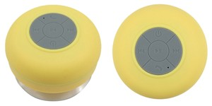 Wireless Portable Water Resistant Speaker With Built-In Mic -Yellow