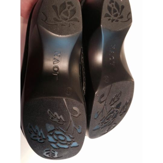 Naot Black, silver accents Mules